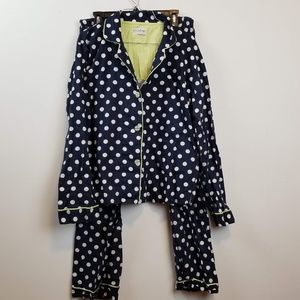P.J. Salvage navy polka dot pajama set size XL